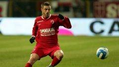 Левият бек на Динамо (Букурещ) Кристиан Пулхач за последно игра под наем в испанския Еркулес