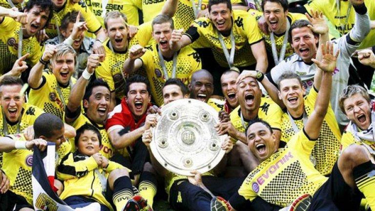 Младият отбор на Борусия (Дортмунд), воден от наставника Юрген Клоп, безапелационно спечели титлата в Бундеслигата
