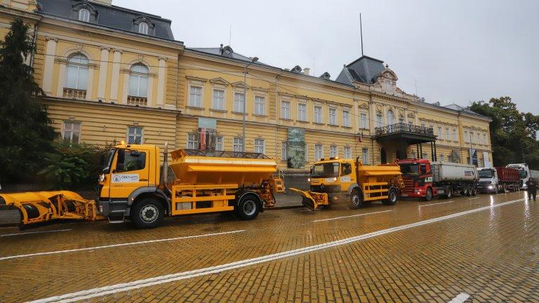 Глоби за шофьорите на камионите, които протестираха в София