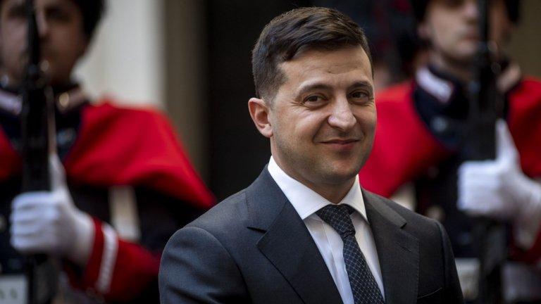 Украинският президент не може да избяга от комика в себе си
