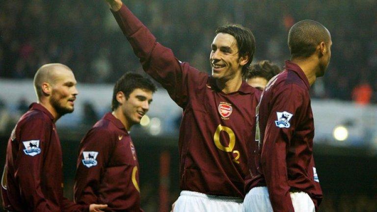 """5. Робер Пирес (2000-06). Отказа на Реал Мадрид, за да дойде в Арсенал. Започна кошмарно, но после показа на какво е способен. Част от дубъла през 2002-а и основен футболист на """"непобедимите""""."""