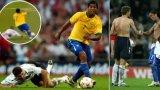 """Когато Роналдиньо накара Джерард """"да си седне"""" след брутална мрежичка (видео)"""
