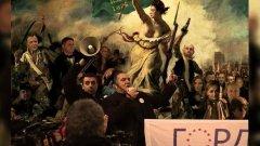 Новогодишна картичка от ГОРД - Свободата води народа. А народът  е олицетворен от коалиционните партньори Слави Бинев, Румен Ралчев, Стъки, Юлияна Дончева и Поли Карастоянова... (Вижте още в снимките)