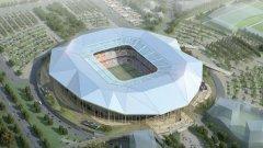 Така ще изглежда новият стадион на Лион от птичи поглед...