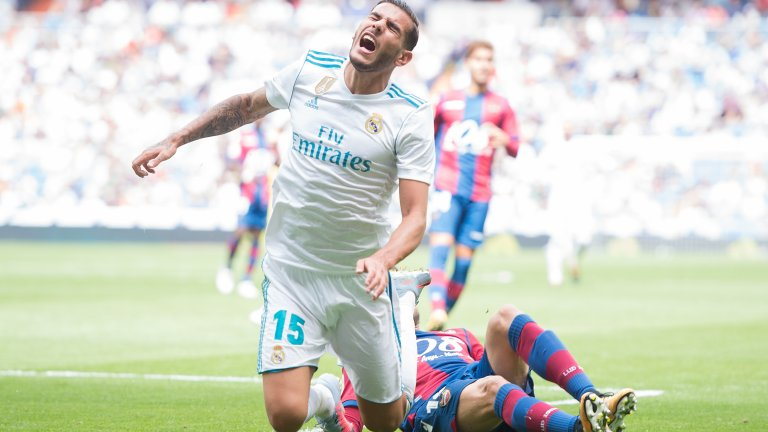 """Ляв бек: Тео Ернандес  Реал трябваше да пазарува от градския съперник Атлетико Мадрид, за да го вземе през 2017-а. Тео обаче не успя да се установи на """"Бернабеу"""" и след само 13 мача с белия екип бе отдаден под наем в Реал Сосиедад, след което и продаден на Милан през лятото на 2019-а. В Италия обаче бекът се чувства далеч по-добре, стана титуляр за """"росонерите"""" и през този сезон има шест гола и две асистенции."""