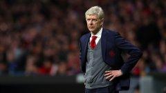 Арсен Венгер в момент от последния си мач начело на Арсенал в евротурнирите