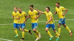 Прострелно центриране на Златан Ибрахимович донесе точката на Швеция.