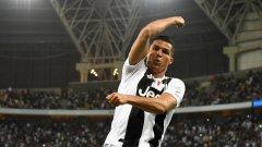 Роналдо нанесе решаващия удар с глава и взе първи трофей с Ювентус