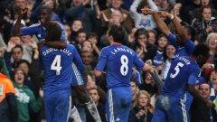 Давид Луис и Рамиреш (горе) бяха голмайсторите за Челси при победата над Манчестър Сити в дербито на кръга
