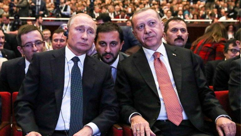 Ердоган и Путин начертаха бъдещето на Северна Сирия