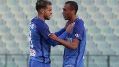 Давиде Мариани и Паулиньо донесоха победата на Левски в Словакия