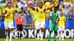 Йери Мина отбеляза втория си гол на Мондиал 2018 и класира Колумбия на 1/8-финалите