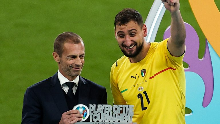 """Донарума е №1 на Евро 2020, Роналдо грабна """"Златната обувка"""""""