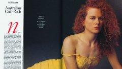 23-годишната Никол при първата й поява във Vanity Fair през 1990 г.