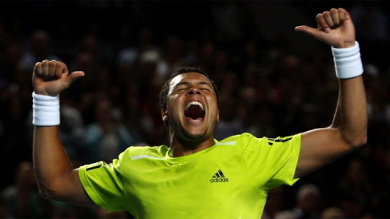 Цонга загуби финала в Австралия през 2008 г. от Новак Джокович