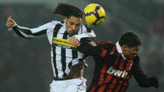 Амаури от Ювентус и Тиаго Силва от Милан в сблъсък от среща на двата гранда в миналото първенство