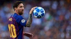 Срещу Бетис Меси отбеляза своите голове номер 565 и 566 с фланелката на Барселона.