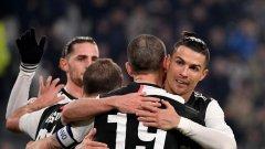 Роналдо отново вкара, а Ювентус вече е пнолуфиналист за Купата на Италия