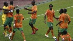 """Голът на замбиеца Маюка в 78-ата минута изхвърли """"черните звезди"""" от Гана"""