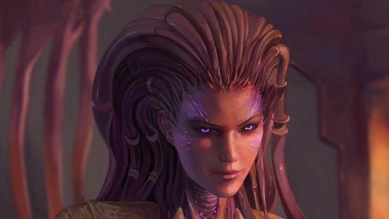 Сара Кериган (поредицата StarCraft)  Сара Кериган, наричана още Queen of Blades, е един от основните персонажи в стратегическата поредица StarCraft, създаден от дизайнерите Крис Метцен и Джеймс Пини. През годините Кериган става толкова известен персонаж, че трудно ще откриете класация на най-известните героини в гейминга без нейното присъствие. Историята на Кериган е използвана и за няколко романа, свързани с играта. От една страна е изстрадалата, но добронамерена Сара Кериган в човешката си форма. Тя е красива, загадъчна и оправна, желан съюзник в битка, както и морално извисена личност, въпреки всички нещастия, които е преживяла. След това се появява другата й страна – Кралицата на остриетата, която е властна, егоцентрична и маниакална с невероятни свръхсили и злоба, достатъчно голяма, че да покрие цялата вселена. За сексапила й допринасят и гласовите умения на озвучаващата я в StarCraft и Brood War Глинис Толкен Кембъл. Същата е заменена за втората игра от небезизвестната канадска актриса Триша Хелфър, позната ни от сериала Battlestar Galactica.