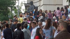 Студентите протестираха за намалени субсидии за ВУЗ-ове, но не и заради реда - или по-скоро липсата му, в Студентския град