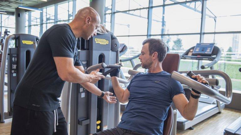 За постигането на това ще му помага неговият персонален треньор от Next Level Fitness Club Светослав Георгиев.