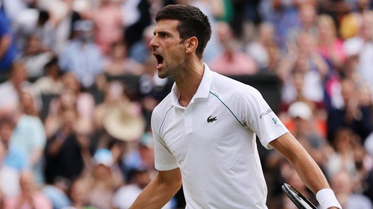 Джокович отново е финалист на Уимбълдън и може да изравни Федерер и Надал