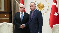 Майк Пенс подчерта, че Белият дом няма да предприема военни действия в Североизточна Сирия и ще използва само дипломатически действия в региона