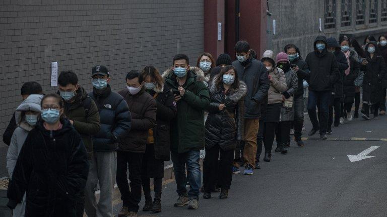 Масово COVID тестване в Пекин: 2 млн. души за 48 часа (снимки)