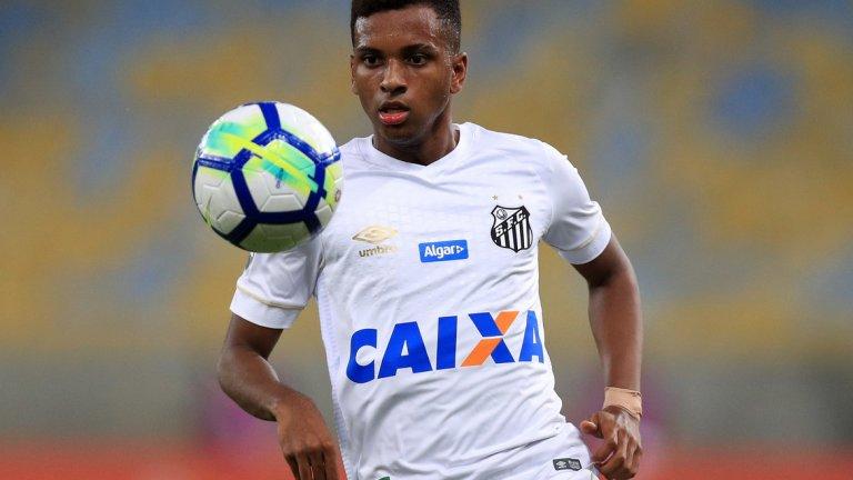 """5. Родриго Гоеш  От Сантос в Реал Мадрид (2019) - 40 млн. паунда  Още едно дете-чудо на Бразилия, за което Реал не жали средства. Родриго е само на 18 и неговият трансфер беше договорен още миналото лято, но той ще се присъедини едва сега към """"белите"""". Нищо чудно да бъде налаган постепенно в първия отбор, както стана и с Винисиус."""