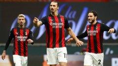 Златан с още два при разгромна победа на Милан