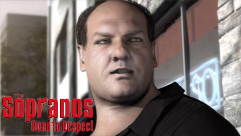 """4 от най-лошите игри по сериали  The Sopranos: Road To Respect (PS2)  В средата на миналото десетилетие бе модерно да се правят игри по сериозни сериали като The Shield, Prison Break и др. Затова бе въпрос на време да видим игра и по модерната криминална класика """"Семейство Сопрано"""". Позиционирана между петия и шестия сезон на драмата на НВО, играта ви поставя в ролята на младия мафиот Джоуи ЛаРока.  Обещанието играта да е озвучена с гласовете на всички основни актьори от сериала генерира известен интерес, но феновете много бързо останаха разочаровани. Скучни мисии, линейна история и грозновата графика опропастиха потенциално интересната адаптация."""