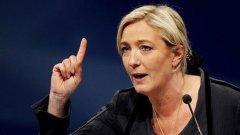 Френските националисти под ръководството на Марин льо Пен бележат възход