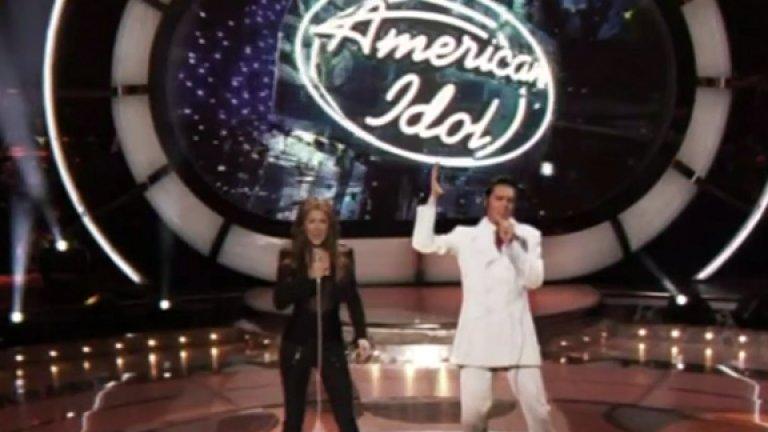 Елвис Пресли  30 години след смъртта си през 1977 г. Елвис изгря в American Idol в дует със Селин Дион. Двамата изпяха If I Can Dream и представиха Краля на поколение, което няма как да го помни. Все още има планове такива изяви на Елвис да станат редовни в Лас Вегас.