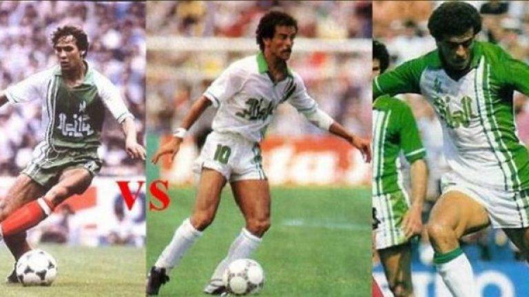 7. Египет срещу Алжир, ноември 1989-та  За разлика от повечето срещи в тази класация, този мач завършва, като Египет побеждава Алжир с 1:0 в среща-квалификация за Мондиал 90.  Алжирските фенове обаче не се кротват след края на мача, като привържениците и треньорското ръководство са бесни на съдията, дал 8-минутно продължение.  Алжирските фенове насочват гнева си към ВИП ложите на стадиона, а техният играч Лакхдар Белуми (на снимката) уцелва с бутилка минерална вода доктора на противника. В следствие на удара, медикът остава сляп с едното си око.