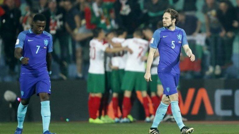 1. На първо място е време да се порадваме, не бяхме били голям отбор от 15 или 20 години  Даже няма смисъл да гледаме как точно е дошла победата и какво ни носят спечелените точки в групата. На първо място е време да се порадваме, защото ударихме водещ европейски отбор. В каквото и състояние да е Холандия, тя е голяма футболна сила, а звездите й струват милиони. Един стегнат и дисциплиниран български тим излезе и ги накара да изглеждат смешни.  Помните ли кога за последно националите бяха побеждавали голям отбор в официален мач? Вярно, холандците ги бихме в контрола, бихме и Португалия неотдавна, точно преди да станат европейски шампиони. Но в официален мач кога за последно бяхме поваляли някоя от големите сили? Трябва да се върнем поне 15 години назад, когато ударихме Хърватия с 2:0 с голове на Стилиян Петров и Бербатов. Или 20 години назад, когато през 1997 г. бихме Русия с 1:0 и успехът ни класира на Мондиал 1998. Но даже хърватите и руснаците е трудно да ги броим за суперсили, така че се налага да си спомним юни 1995 г. и големия обрат срещу Германия от 0:2 до 3:2 в европейска квалификация. Това дава някаква представа за мащабите на снощното постижение.