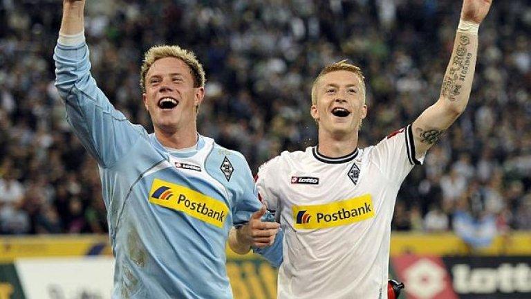 Четвъртият в миналото първенство Борусия (Мьонхенгладбах) се раздели с Марко Ройс (вдясно), като на негово място бе привлечен Люк де Йонг от Твенте