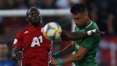 Али Соу отбеляза гола и на два пъти нацели гредите за ЦСКА