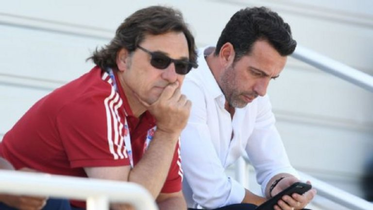 Раул Санлехи работи заедно с новия спортен директор Еду