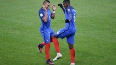 С голове на Пайе и Погба Франция победи Швеция и излезе еднолично начело в група А