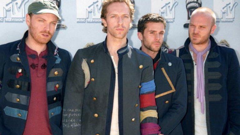 Най-слушаната група в Spotify е Coldplay.