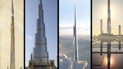 Mille High Illinois, Франк Лойд Райт  Франк Лойд Райт създава амбициозния си проект за небостъргач с височина 1 миля (1,6 км) през 1956 г. Ако беше построена - сградата щеше да е 2 пъти по-висока от настоящия рекордьор по височина.   Първоначалният план на концепцията е за супервисока телевизионна кула. Райт обаче решава, че сграда с подобно предназначение не е целесъобразнa, затова решава да създаде дизайн за небостъргач.   Той използва ареодинамичните характеристики на катедралните кули, като посочва, че пикообразният дизайн ще издържи на въздушното налягане и сградата няма да се люлее от поривите на вятъра.   Проектът е разположен в огромен парк, без място за паркиране на автомобили - Райт предвижда, че обитателите на мегаструктурата ще се придвижват до етажите с хеликоптери, за които е предвидил 100 площадки за излитане и кацане.   Оригиналният план на Райт така и не се сбъдва, но наследството му продължава да живее и до днес - много от съществуващите и бъдещите небостъргачи са създадени по чертежите на великия архитект - от Бурдж Халифа, през идеята за кулата Джеда в Саудитска Арабия до проекта за двойно по-високата Sky Mile Tower в Токио.
