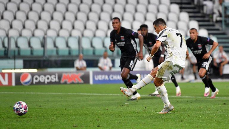 Роналдо отбеляза два гола, но Юве отпада от Шампионската лига.