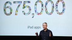 На представянето на новия iPad през октомври Тим Кук се похвали, че за устройството в iTunes вече са достъпни над 675 хил. приложения