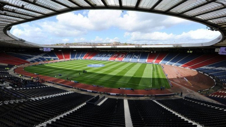 """""""Хемпдън Парк"""" е стадионът, на който играе домакинските си мачове националният отбор по футбол на Шотландия. Ще има и ще 3 мача от груповата фаза а Евро 2020 и един от 1/16 – финалите."""
