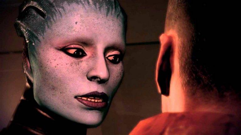 Моринт (Mass Effect 2)  В галактиката на Mass Effect има достатъчно атрактивни персонажи, но Моринт е сред най-прелъстителните и смъртоносни. Ако я определите като психопат с нимфомания, няма да сбъркате. Една от двете дъщери на Самара, тя е черната овца на семейството. Защо? Защото страда от рядко генетично заболяване, което я кара да убива интимните си партньори. Преследвана от правосъдието на собствения си род, Моринт има могъщи биотични умения и възможност да доминира над съзнанието на другите. На една отдалечена планета тя дори успява да постави под фаталния си чар цяло поселище, което започва да я боготвори. В ролята на командир Шепард, играчите трябва да изпълнят мисия за спечелване лоялността на Самара, а задачата е проста - фаталната Моринт трябва да бъде открита и елиминирана. Визията на Моринт е базирана на американския модел Рана МакАниър.