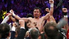 На 40-годишна възраст Пакиао стана най-старият боксьор с титлата на WBA в полусредна категория