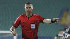 Георги Кабаков с рядката възможност да свири мач в групите на Шампионската лига