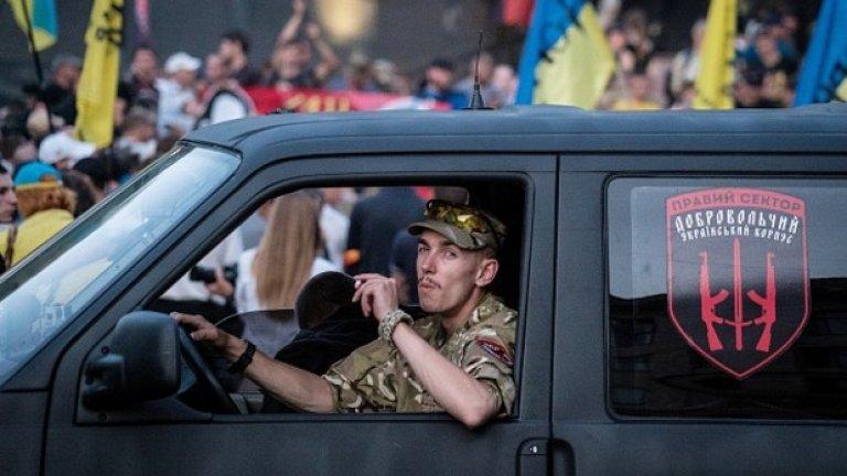 """Според обяснението на активистите на """"Десен сектор"""" конфликтът избухнал заради контрола на контрабанден канал"""