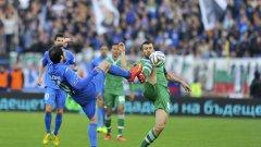 Левски приема Лудогорец в големия мач днес.